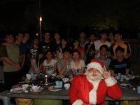 与圣诞老人合照